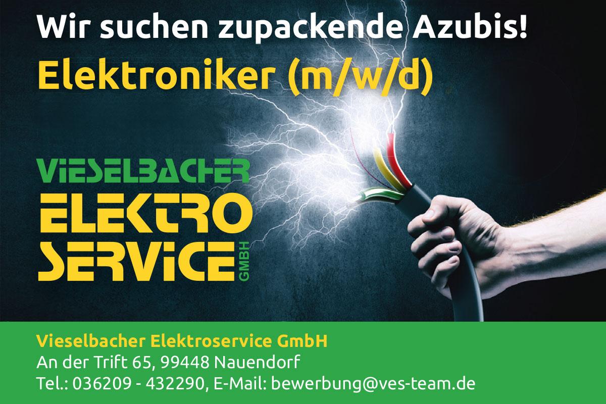 Vieselbacher Elektroservice GmbH: Zupackender Elektroniker-Azubi gesucht